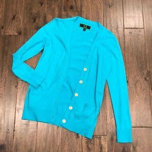 C. Wonder Turquoise Long Cardigan - Small